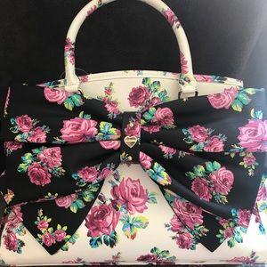 Betsey Johnson flower purse large bow NWT